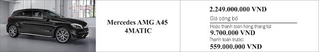 Giá xe Mercedes AMG A45 4MATIC 2019 hấp dẫn bất ngờ