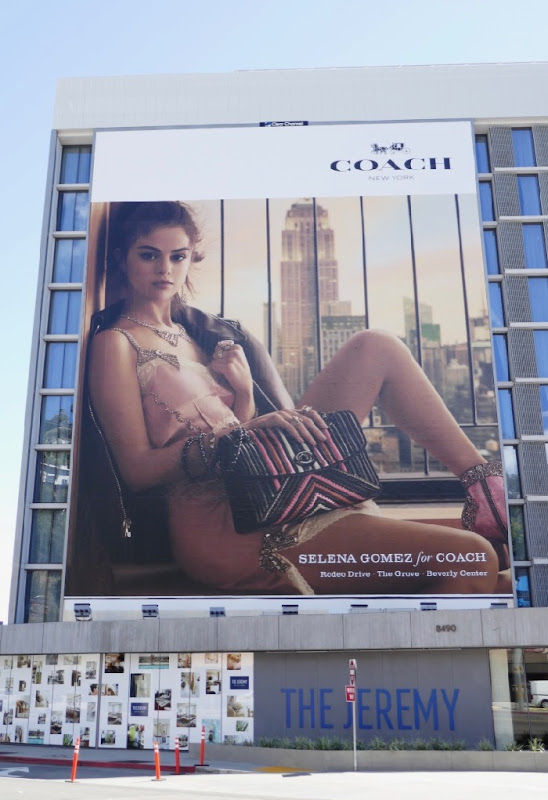 Giant Selena Gomez Coach S18 billboard