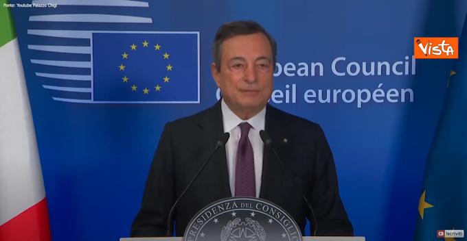 """Draghi: """"Inaccettabili le foto dei bambini morti, bisogna sempre avere in mente i diritti umani"""""""