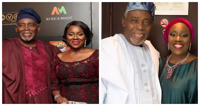 My husband is not dead- Actress Joke Silva reacts to the rumors of her Husband death, Olu Jacob