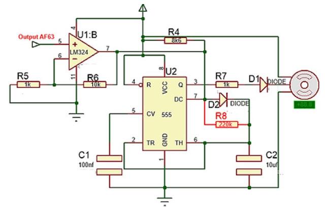 Implementasi sensor Gas AF63 dengan motor servo