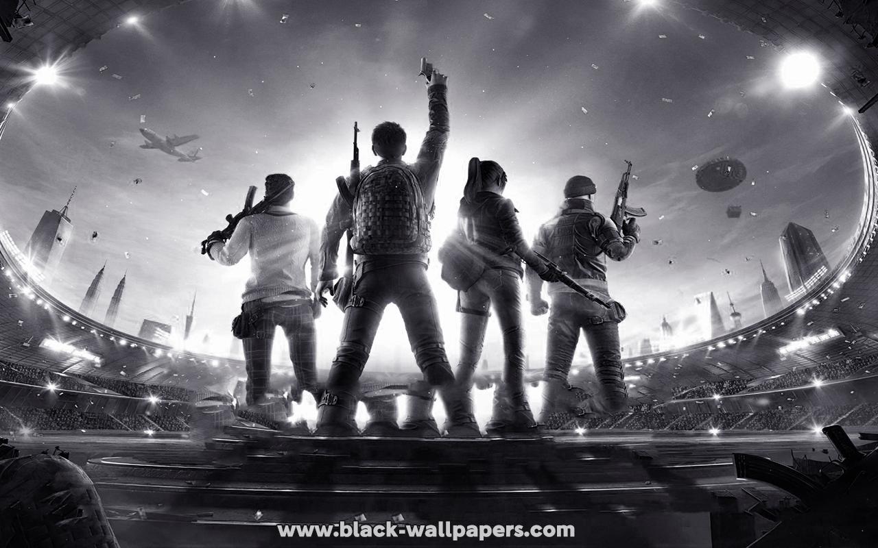 pubg black wallpaper 4k