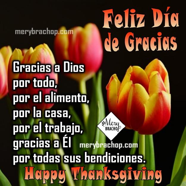 Imágenes con frases y oraciones de Acción de Gracias, feliz día de gracias, Tarjetas de thanksgiving con oración de familia por Mery Bracho