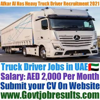 Afkar Al Nas Heavy Truck Driver Recruitment 2021-22