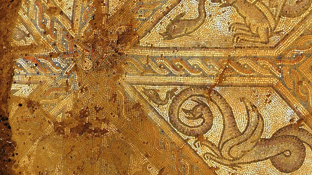 Byzantine mosaic revealed near ancient city of Parion in Turkey's Canakkale