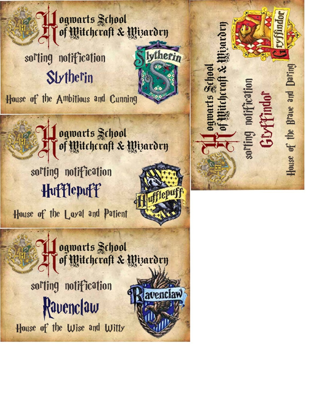 harry potter free party printables