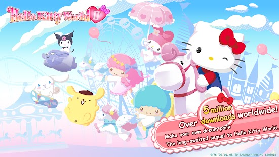 Hello Kitty World 2 Sanrio Kawaii Theme Park Game Apk Free on Android Game Download