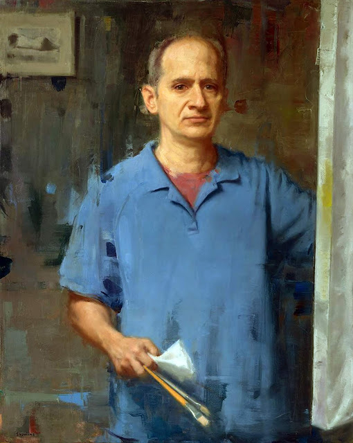 David Shevlino, Self Portrait, Portraits of Painters, Fine arts, Portraits of painters blog, Paintings of  David Shevlino, Painter David Shevlino