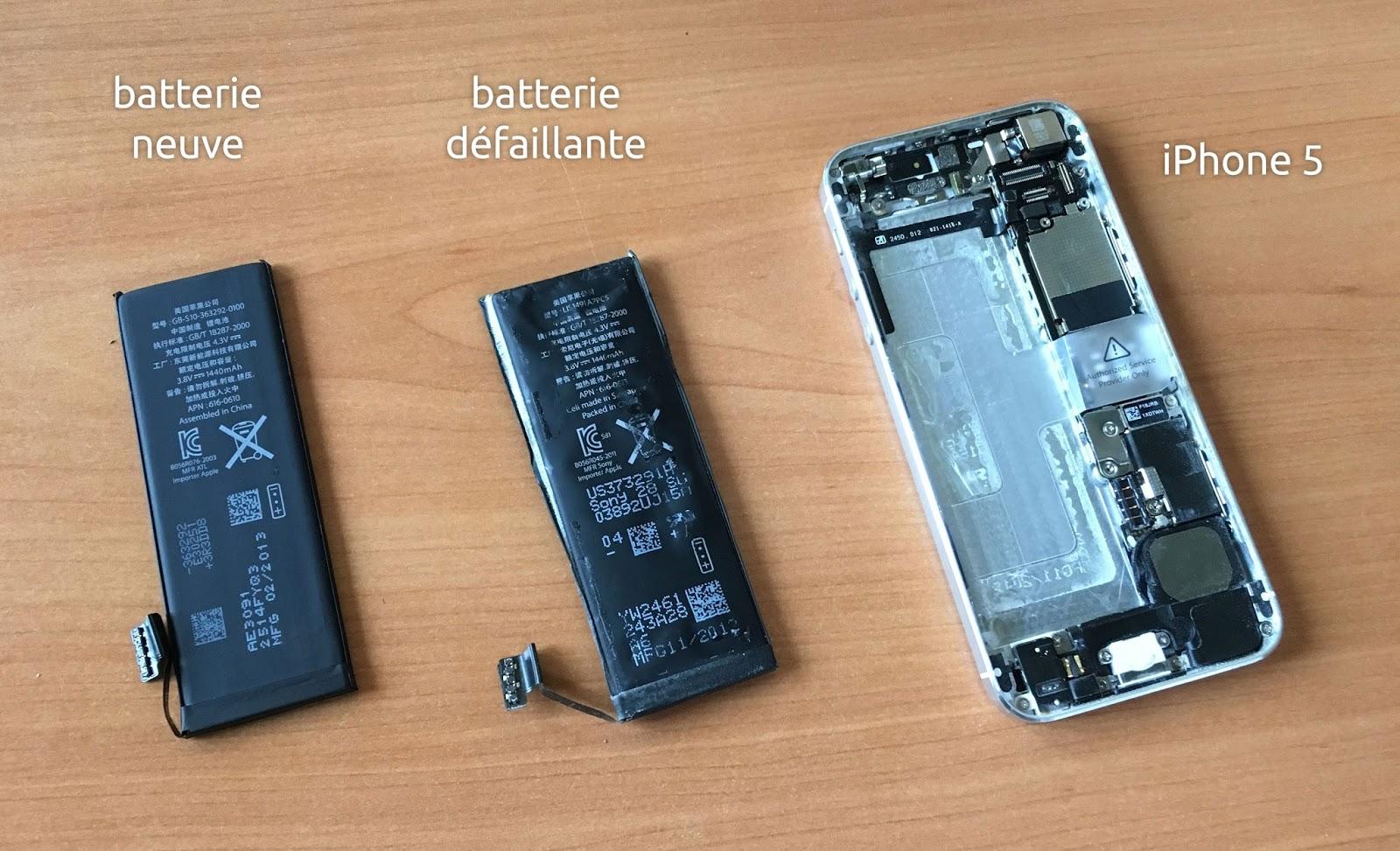 changer la batterie de l 39 iphone 5 matt le bougnat. Black Bedroom Furniture Sets. Home Design Ideas