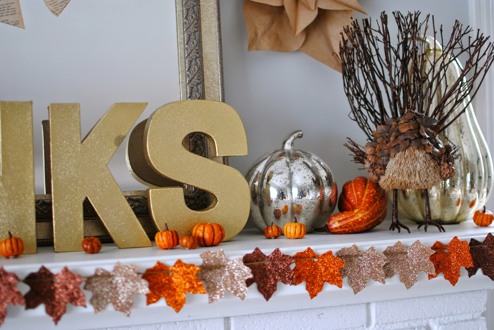 Can I Put My Christmas Decorations Up In November : Breakfast at gigi s thanksgiving mantel