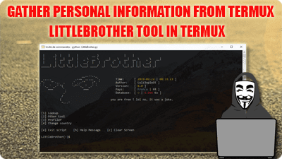 information gathering from termux osint tool