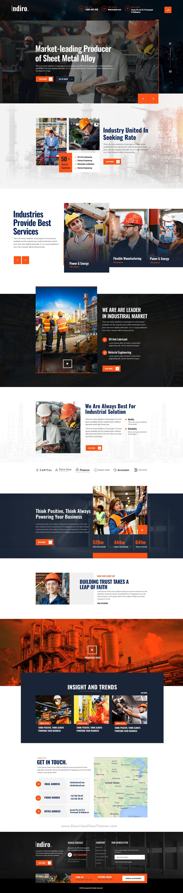 Factory and Industrial Photoshop Template