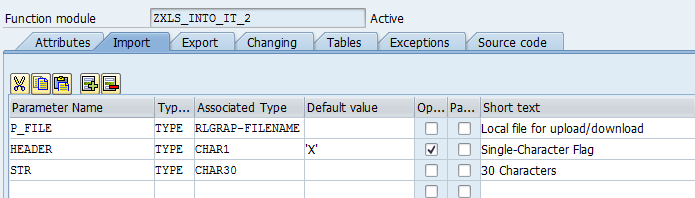 SAP ABAP Central: Excel Data to Internal table using
