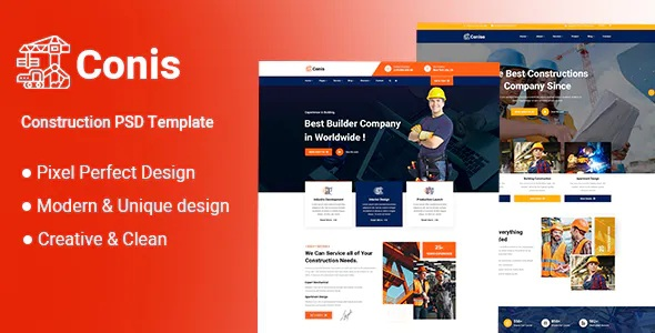 Best Construction PSD Template