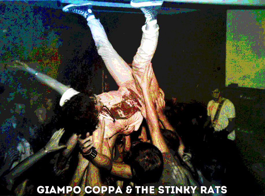 Giampo Coppa e gli Stinky Rats in concerto a Homburg -Saarland, 1986.