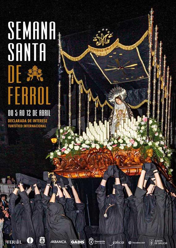 Presentado el cartel de la Semana Santa de Ferrol 2020