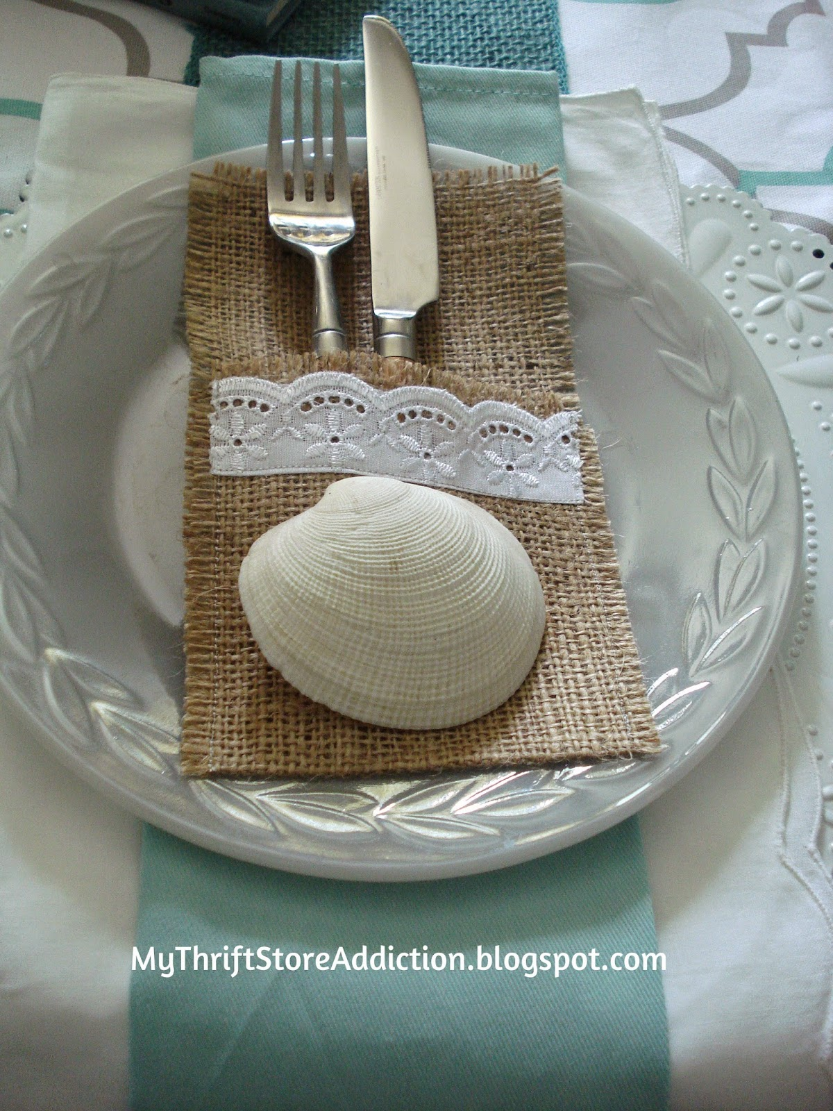 Take me to the beach coastal tablescape