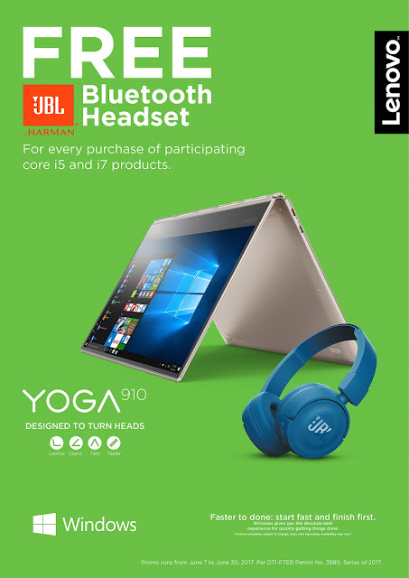 Free JBL Bluetooth Headset when you buy a Lenovo laptop this June