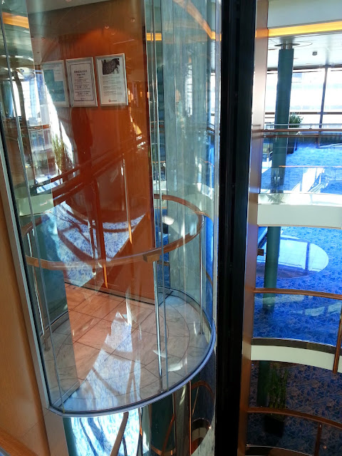 Hurtigruten MS Trollfjord - Glass Elevator in the Atrium