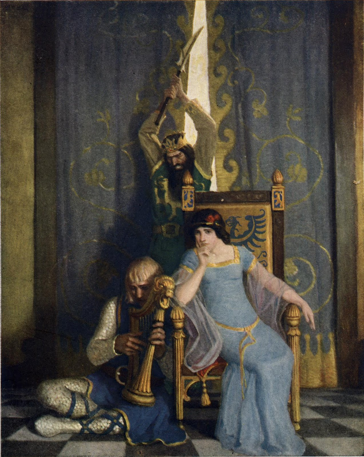 NC Wyeth silent king arthur