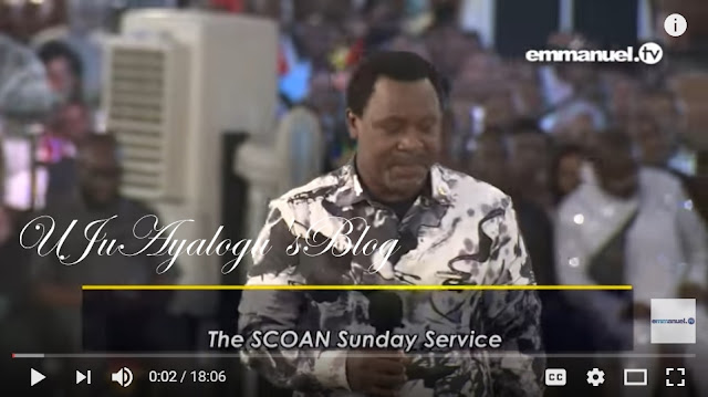 "WATCH VIDEO..TB Joshua Bombshell: ""I'm scared to collect offerings!"""