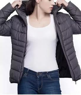 Rokka & Rolla women's lightweight padded puffer jacket.