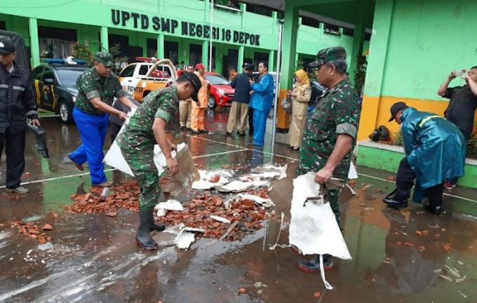 Kodim Depok Respon Cepat Bencana Puting Beliung
