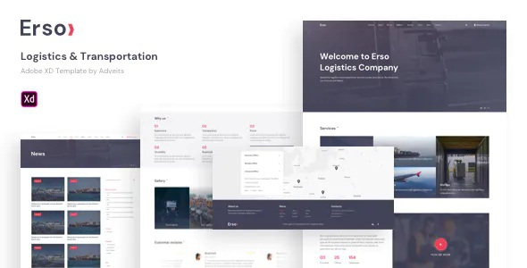 Best Logistics & Transportation Adobe XD Template