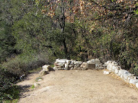 Cabin foundation, Bailey Canyon Trail above Sierra Madre, Angeles National Forest