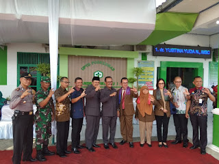 Danramil 10/Gandrungmangu Hadiri Acara Penyambutan Dan Pembukaan Pelaksanaan Survey Reakreditasi UPTD Puskesmas Gandrungmangu 1