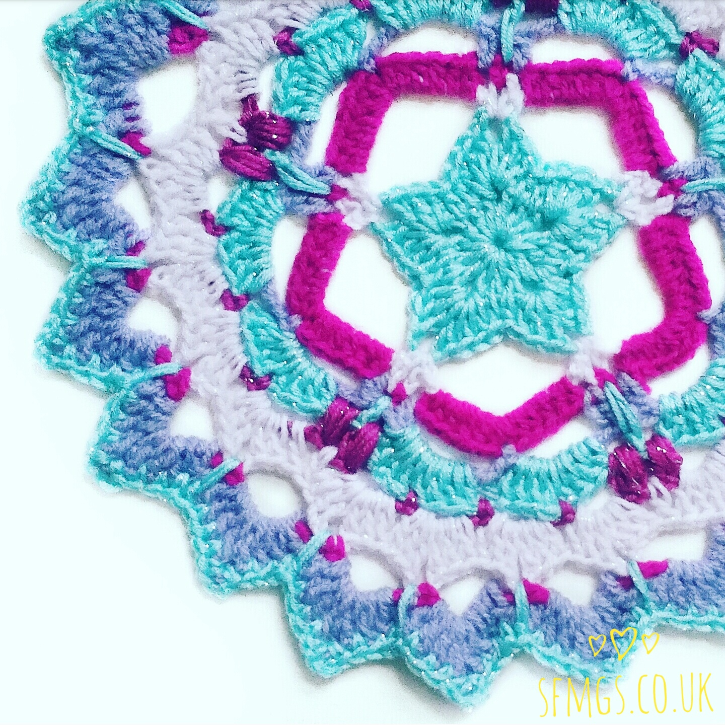 star mandala crochet christmas pattern