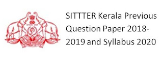 SITTTER Kerala Previous Question Paper 2018-2019 and Syllabus 2020 PDF