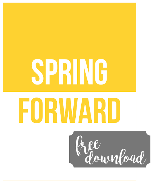 #Spring Forward #free #journaling card #journal card #free printable #memorykeeping #Daylight Savings Time