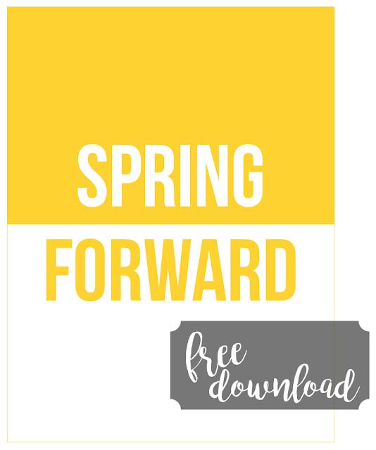 Free Spring Forward Journaling Card
