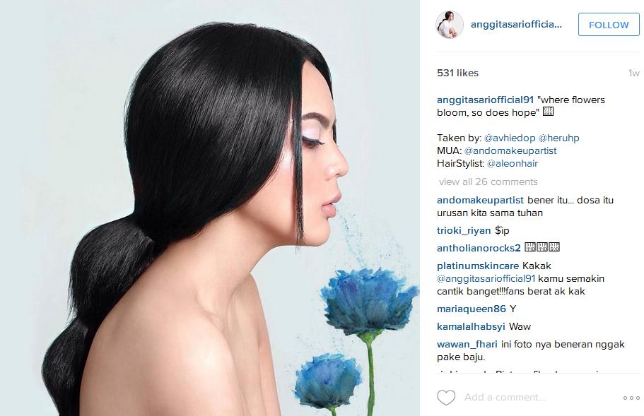 Foto Topless Anggita Sari Terbaru di Instagram