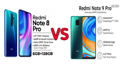 Perbedaan redmi note 8 pro dan redmi note 9 pro