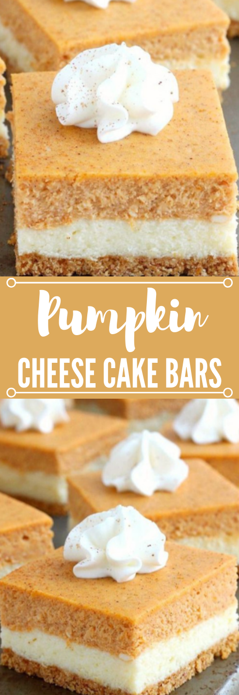 PUMPKIN CHEESECAKE BARS #pumpkin #bars #desserts #yummy #pie