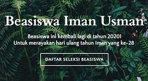 Beasiswa Iman Usman 2020