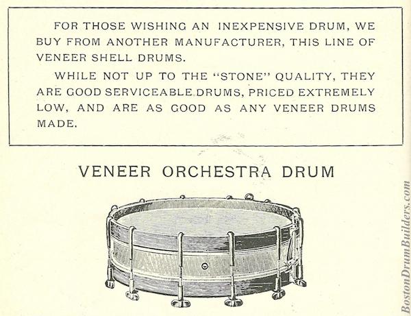 Stone Veneer Drums, Catalog H (ca. 1915)