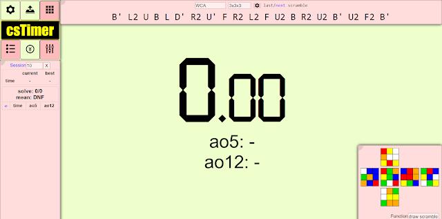rubiks cube cstimer.net timer