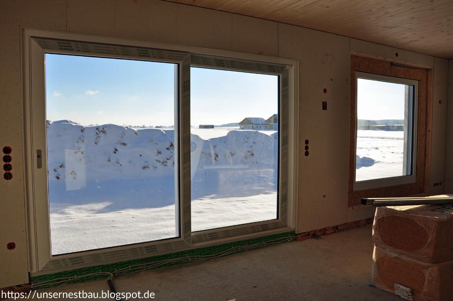 unser nestbau traumhaus im schnee. Black Bedroom Furniture Sets. Home Design Ideas