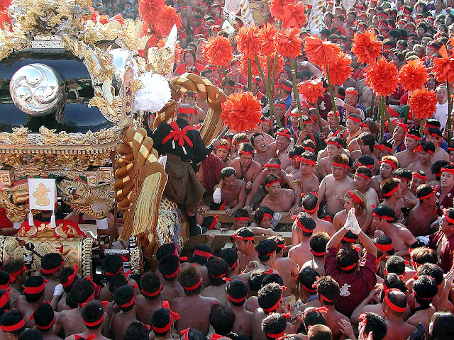 Kenka (battles) Festival at Himeji City, Hyogo Pref.