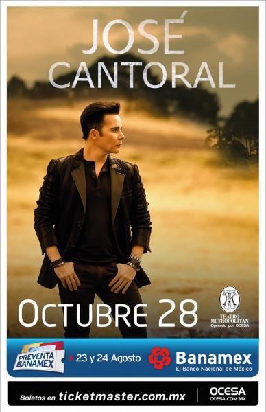 c52a363e18 EnPOPados  José Cantoral se presentará en el Teatro Metropólitan ...