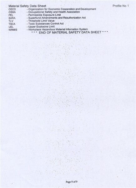 Material Safety Data Sheet (MSDS) Karbon Aktif Calgon FiltraSorb 100