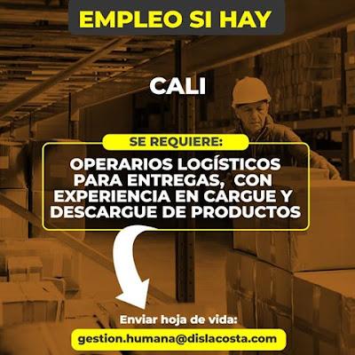Oferta de Trabajo y Empleo en Cali como Operarios Logisticos