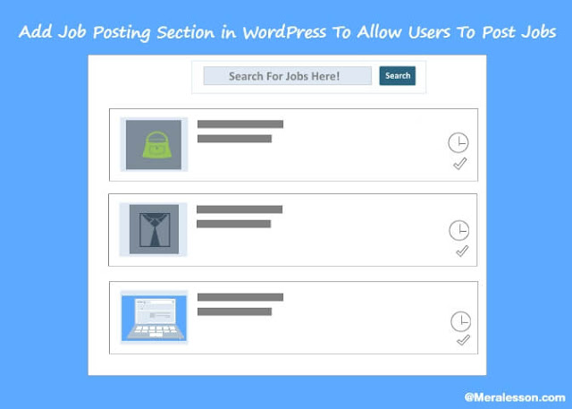 add jobs listings in WordPress