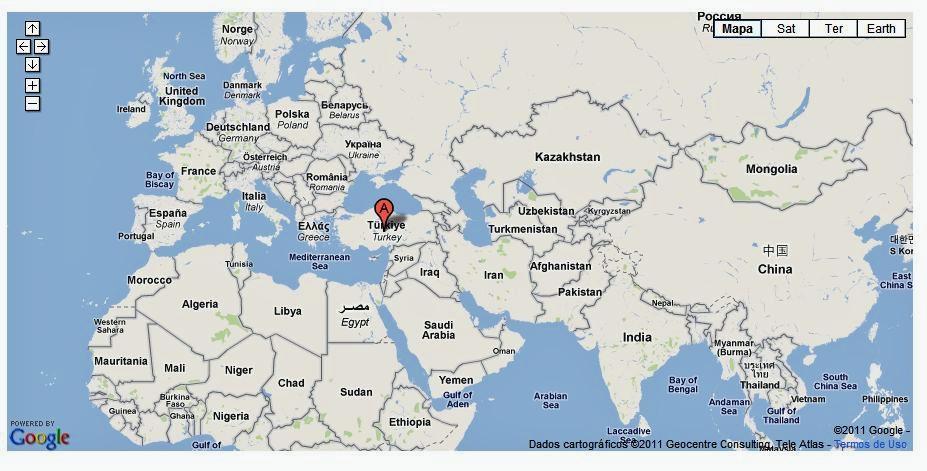 capadócia mapa História Gosto: História da Capadócia capadócia mapa