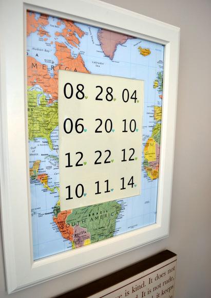Map Frame Mat