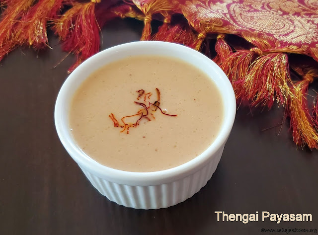 images of Thengai Payasam / Arisi Thengai Payasam / Easy Payasam Recipe