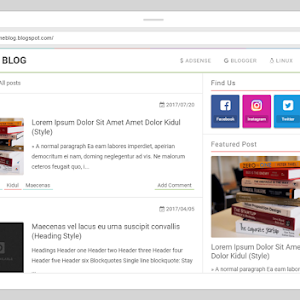 B-Time Blogger Template Free Responsive Mobile Friendly Template